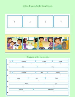 Interactive worksheet Practice: Story-Cookies