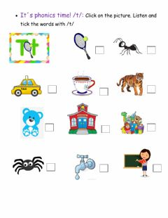 Interactive worksheet It-s phonics time! -t-