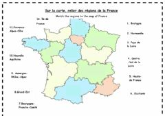 Interactive worksheet Des Régions de la France