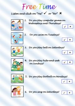 Interactive worksheet Free activities 1
