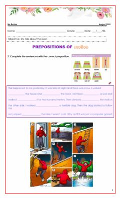 Interactive worksheet Prepositions of motion