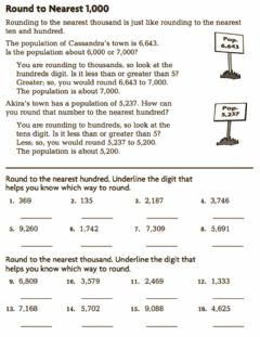 Interactive worksheet Grade 3 Round to the nearest thousand