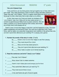 Interactive worksheet Reading Comprehension exercise