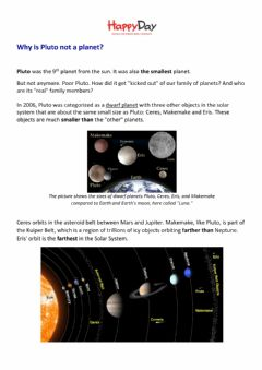 Interactive worksheet Why is Pluto not a planet?