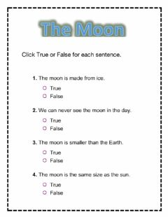 Interactive worksheet The moon