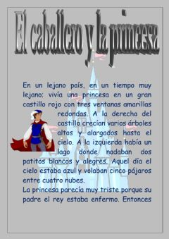 Interactive worksheet El caballero y la princesa