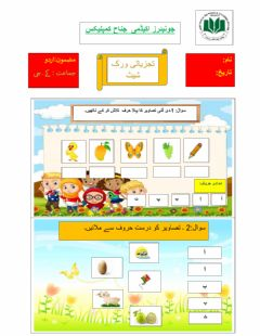 Interactive worksheet Urdu