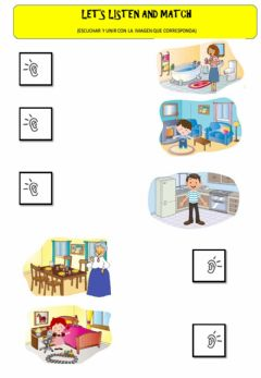 Interactive worksheet My house - My family