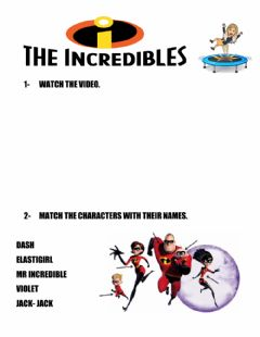Interactive worksheet The incredibles - abilities