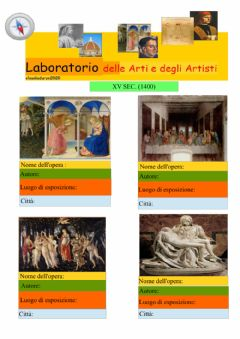 Interactive worksheet Laboratorio dell'arte e degli artisti n.1