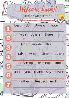 Interactive worksheet 3rd grade rules