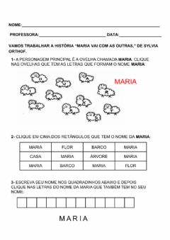 Interactive worksheet Maria vai com as outras