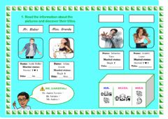 Interactive worksheet Titles (Read and write)