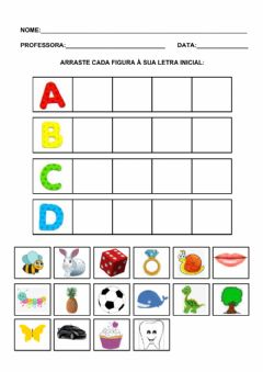 Interactive worksheet Iniciais a, b, c, d