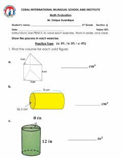 Interactive worksheet MATH QUIZ 6th GRADE