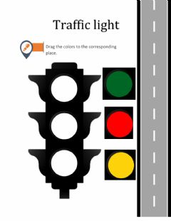 Interactive worksheet Traffic light