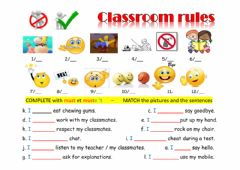 Interactive worksheet Classroom rules 4°