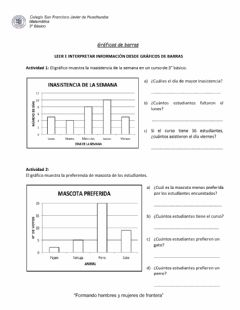 Interactive worksheet Guía gráficos de barras