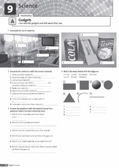Interactive worksheet Gadgets - Materials