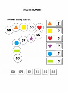 Ficha interactiva Counting 50 to 60