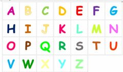 Interactive worksheet Les lettres de l'alphabet