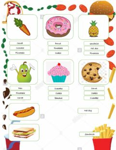 Interactive worksheet Snack time