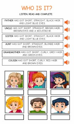 Interactive worksheet Who is it? Family