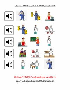 Ficha interactiva Listen and select the correct option