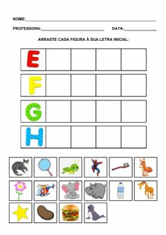 Interactive worksheet E, f, g, h