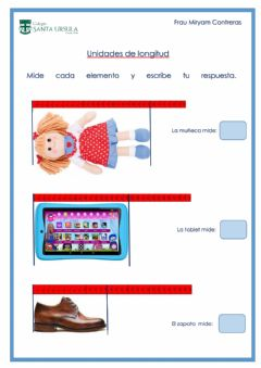 Interactive worksheet Unidad de longitud