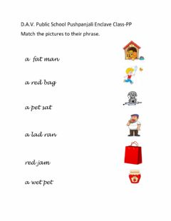 Interactive worksheet A and e vowel phrases match up