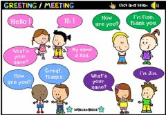 Ficha interactiva Greeting Meeting (Audio Dictionary)