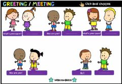 Interactive worksheet Greeting Meeting (Choose)