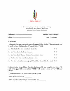 Interactive worksheet Lớp 8 - Unit 7 POLLUTION-LISTENING