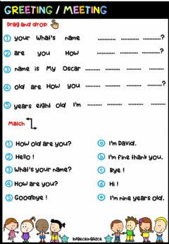 Interactive worksheet Greeting Meeting (Mixed)