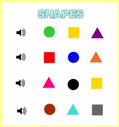 Ficha interactiva Shapes