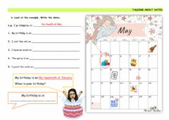 Interactive worksheet Talking about dates 2