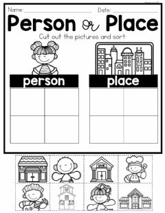 Interactive worksheet Person or Place Sort