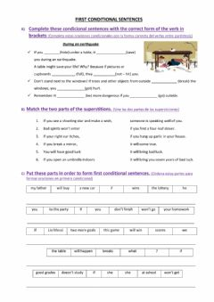 Interactive worksheet First conditional