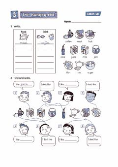 Interactive worksheet The hungry rat