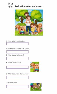 Interactive worksheet Look and answer