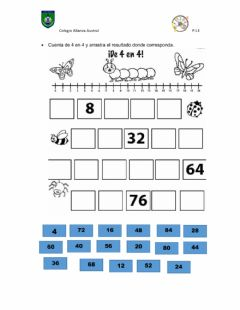 Interactive worksheet Tabla del 4