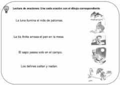 Interactive worksheet Lee y une