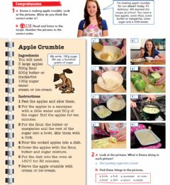 Interactive worksheet Apple crumble Recipe