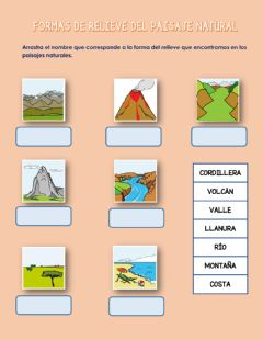 Interactive worksheet Formas de relieve
