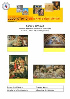 Interactive worksheet Botticelli  opere