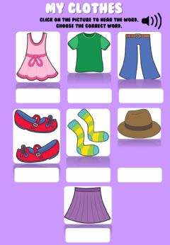 Interactive worksheet Clothes Revision