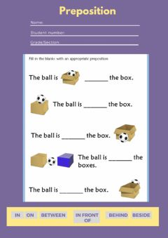 Interactive worksheet Preposition