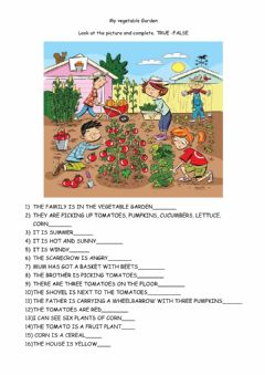 Interactive worksheet Vegetable garden