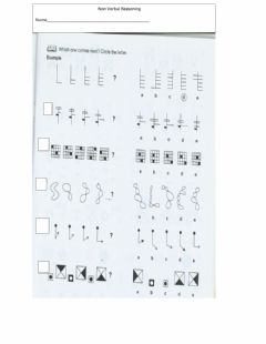 Interactive worksheet Non verbal reasoning